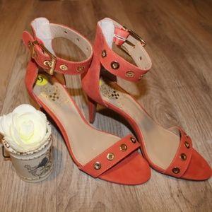 Vince Camuto Coral Leather Calisa Grommet Heels